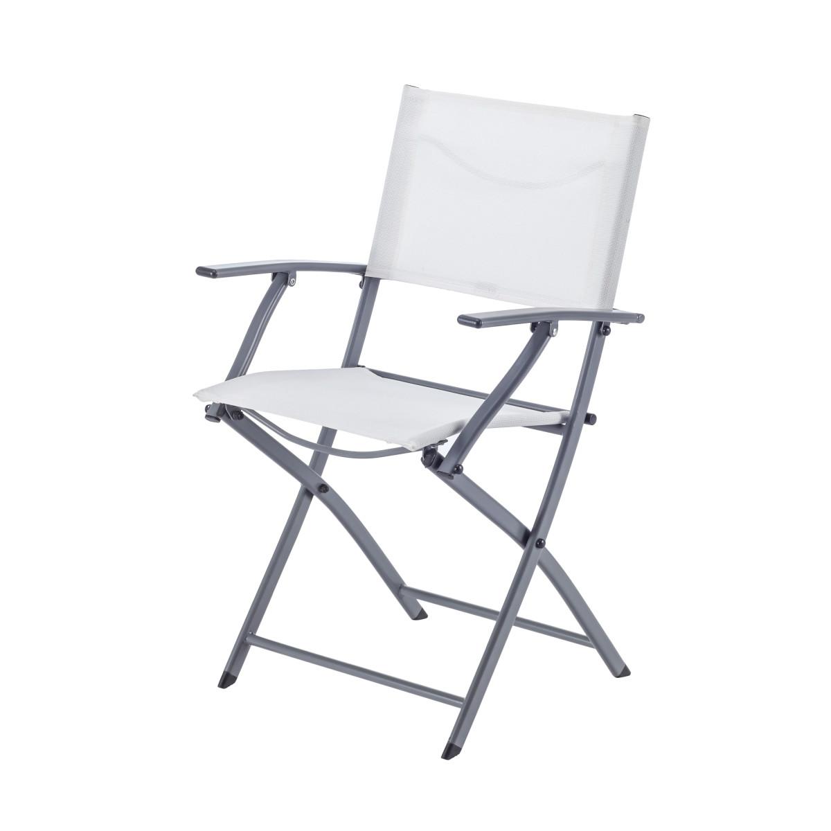 Кресло Naterial Emys Origami складное 54х52х83 см сталь белый