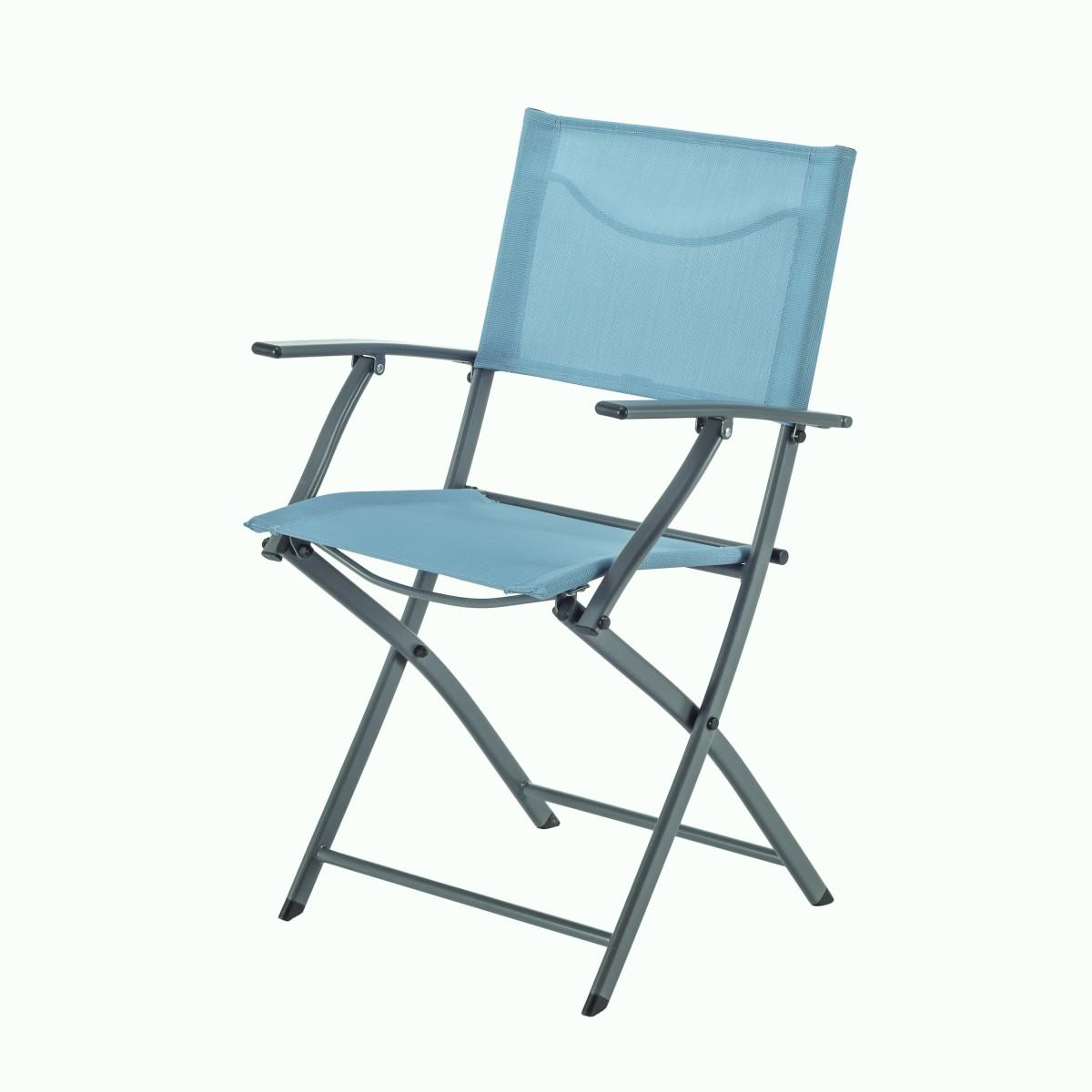 Кресло Naterial Emys Origami складное 54х52х83 см сталь голубой
