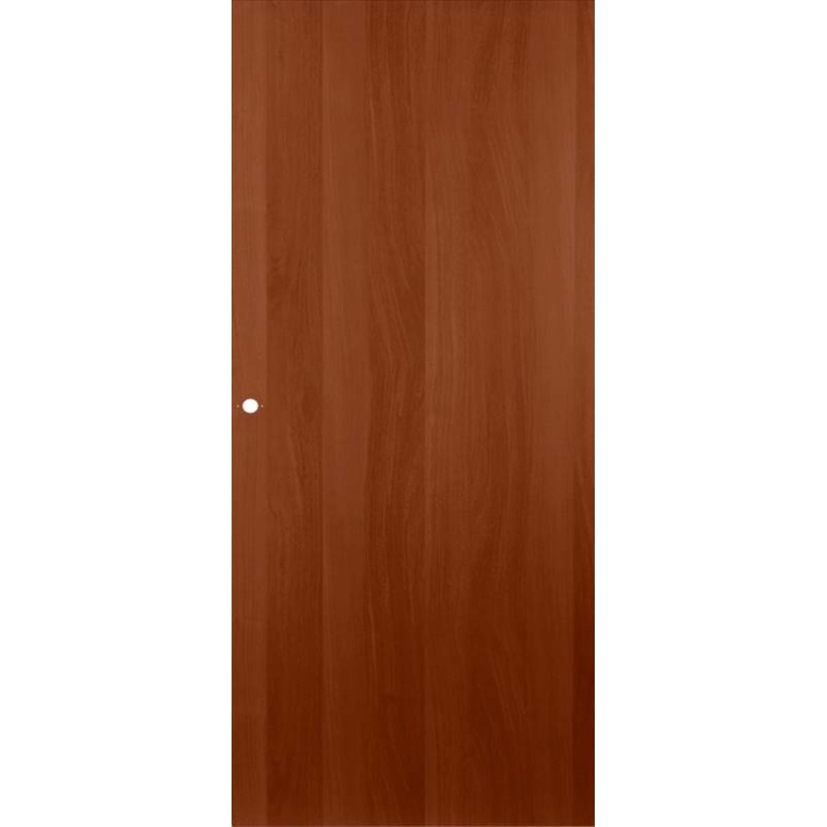 Дверь межкомнатная глухая ламинированная 70x200 см цвет итальянский орех