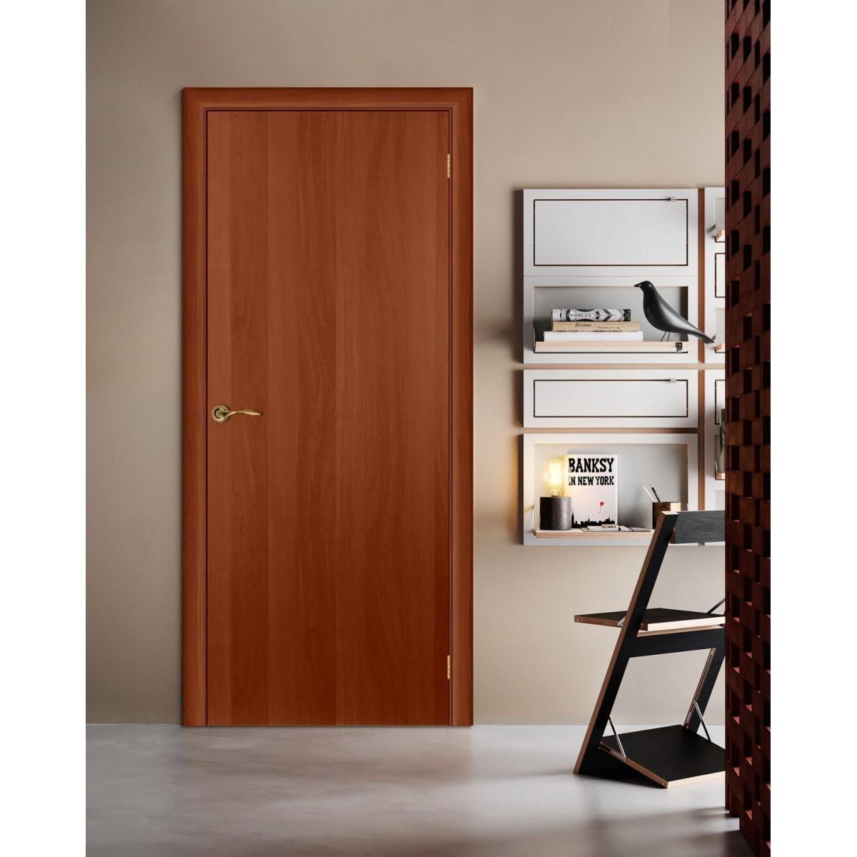 Дверь Межкомнатная Глухая Ламинированная 90x200 Цвет Итальянский Орех