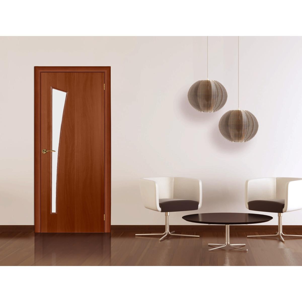 Дверь Межкомнатная Остеклённая Белеза 90x200 Цвет Итальянский Орех