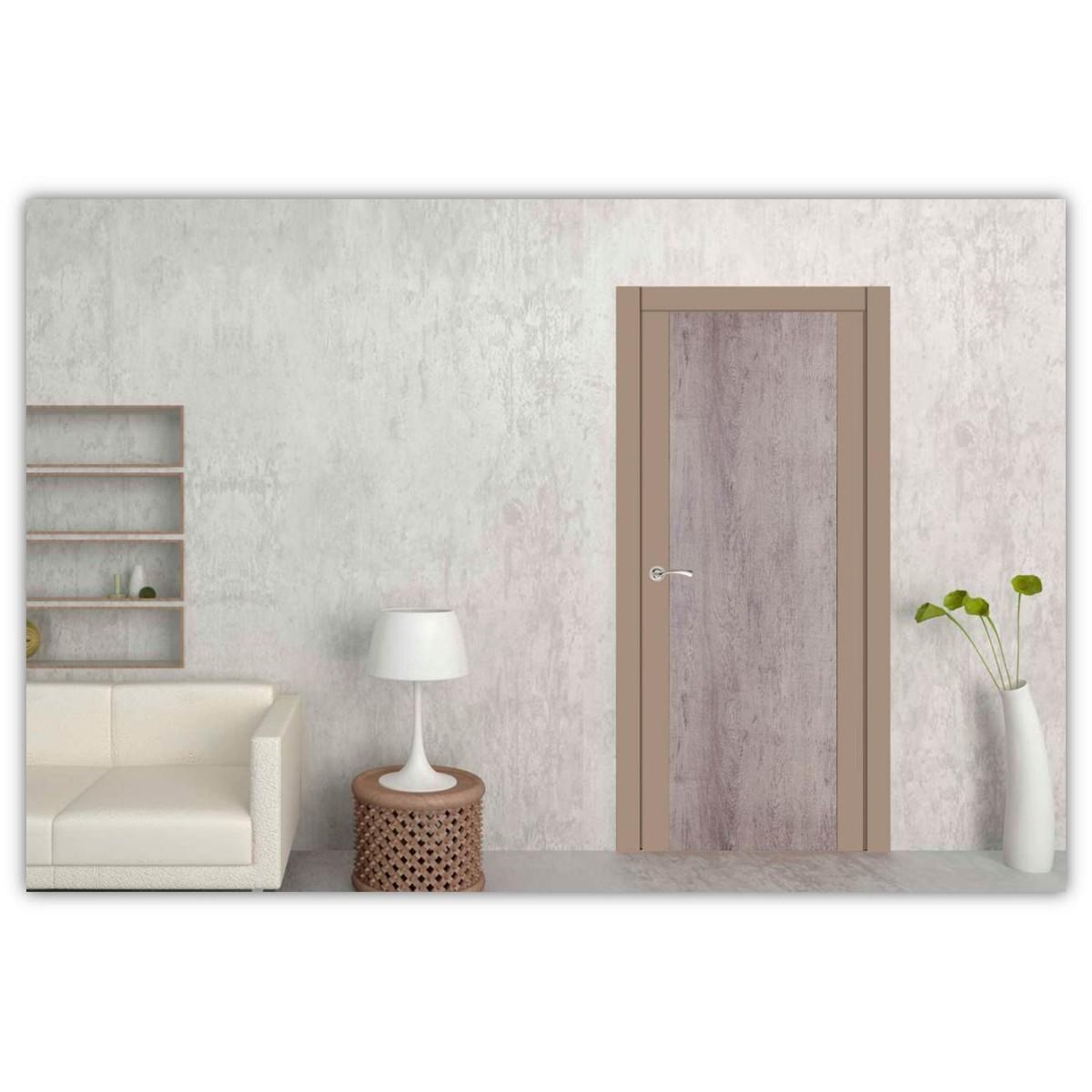 Дверь Межкомнатная Глухая Арт Лайн 90x200 Цвет Какао/Кора