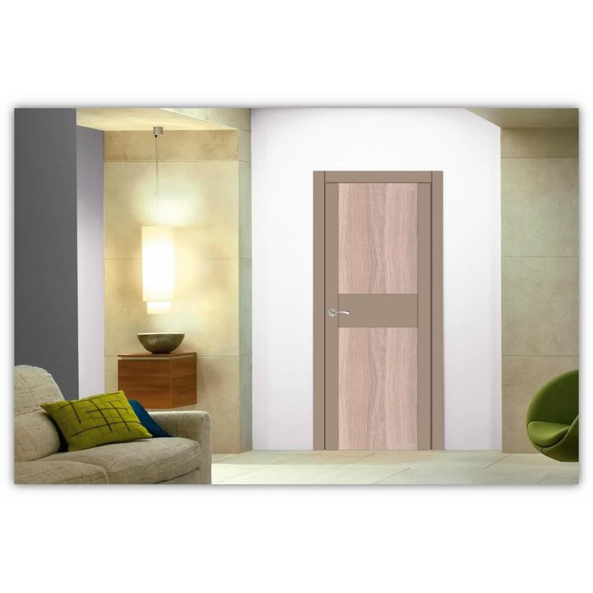 Дверь Межкомнатная Остеклённая Арт Лайн 70x200 Цвет Какао/Холст