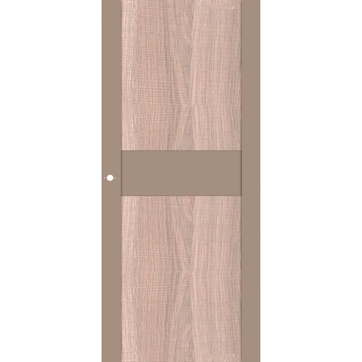 Дверь Межкомнатная Остеклённая Арт Лайн 90x200 Цвет Какао/Холст