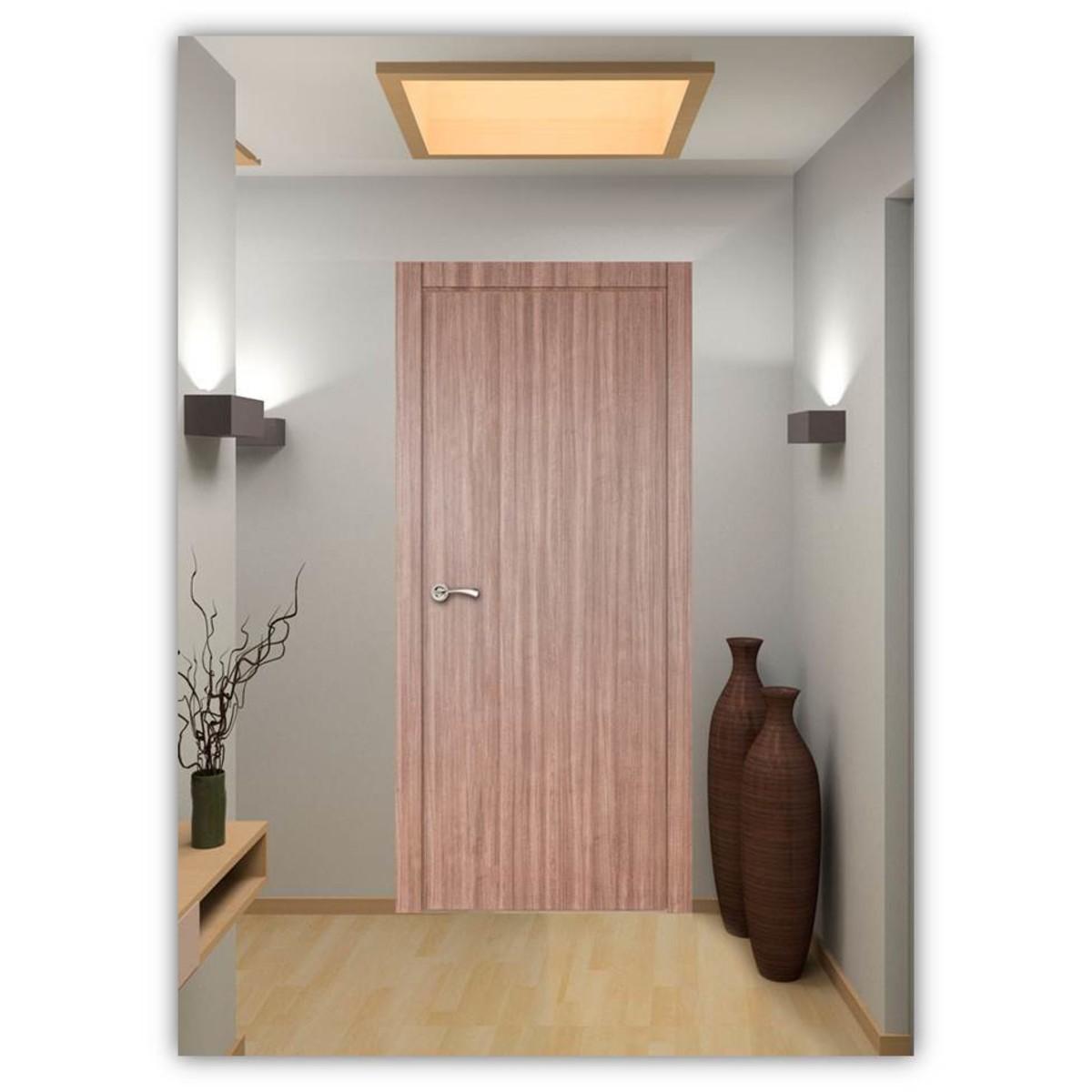 Дверь Межкомнатная Глухая Селена 80x200 Цвет Орех