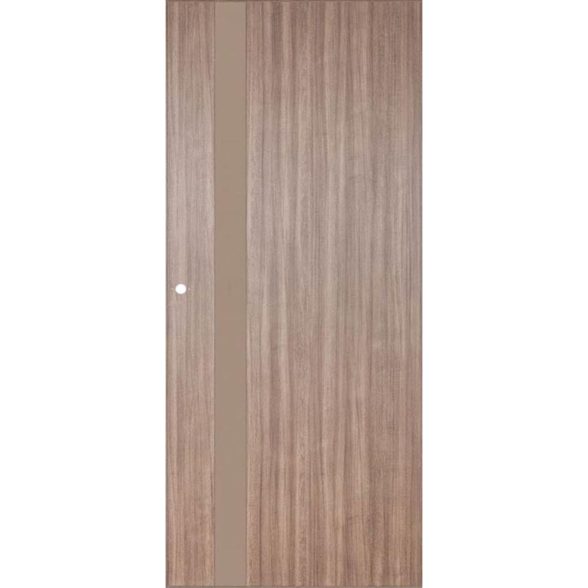Дверь Межкомнатная Остеклённая Селена 60x200 Цвет Орех