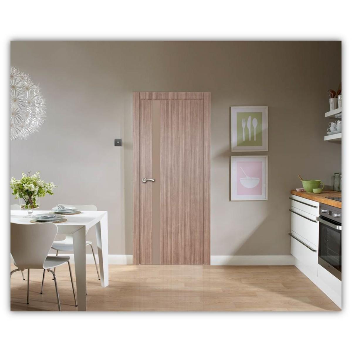 Дверь Межкомнатная Остеклённая Селена 70x200 Цвет Орех
