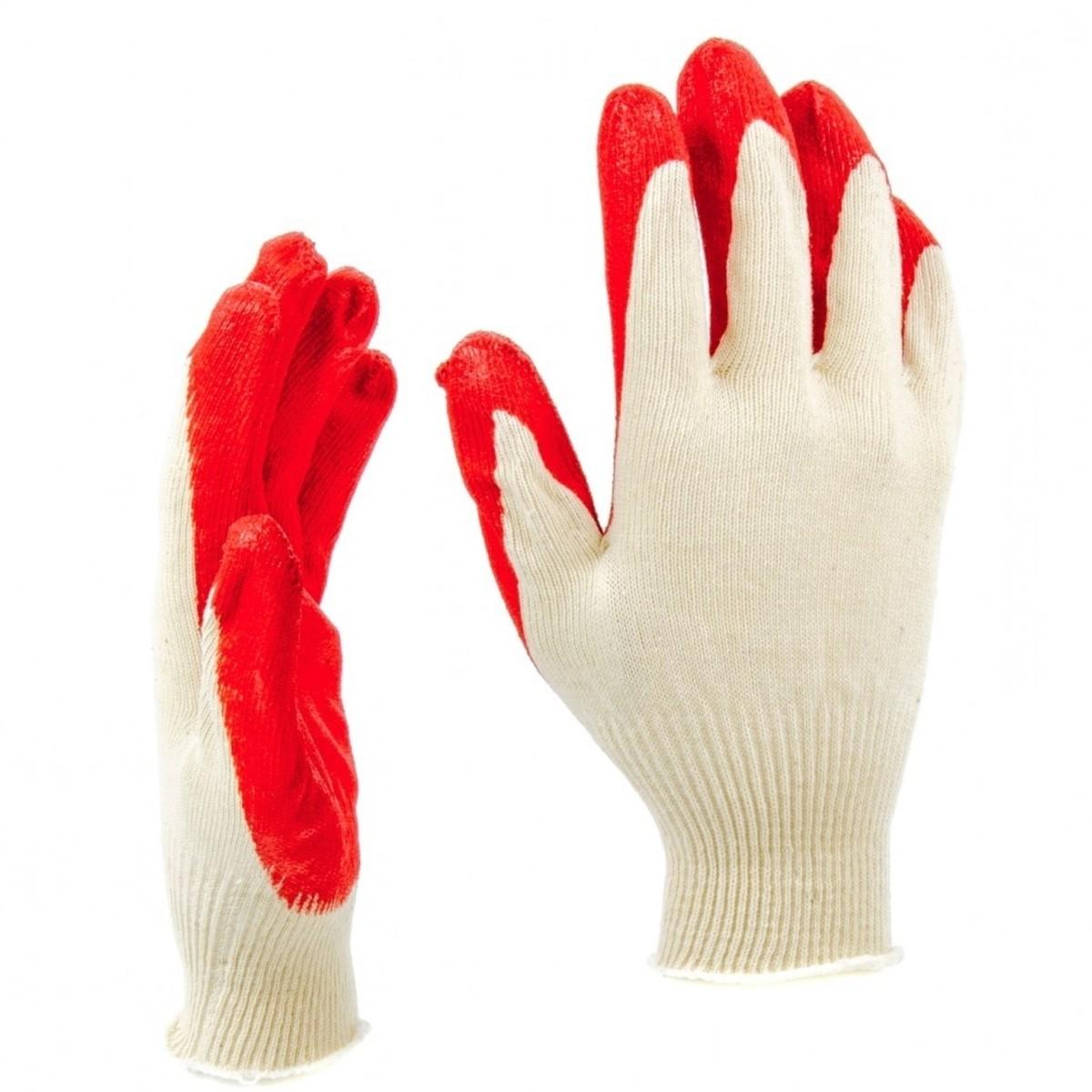 Перчатки трикотажные с натуральным латексом 13 класс