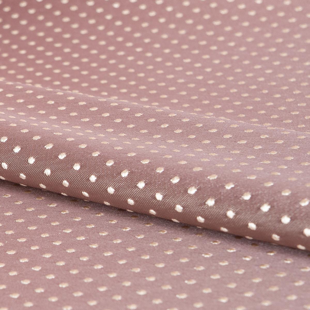 Ткань жаккард Горошек ширина 280 см цвет розовый
