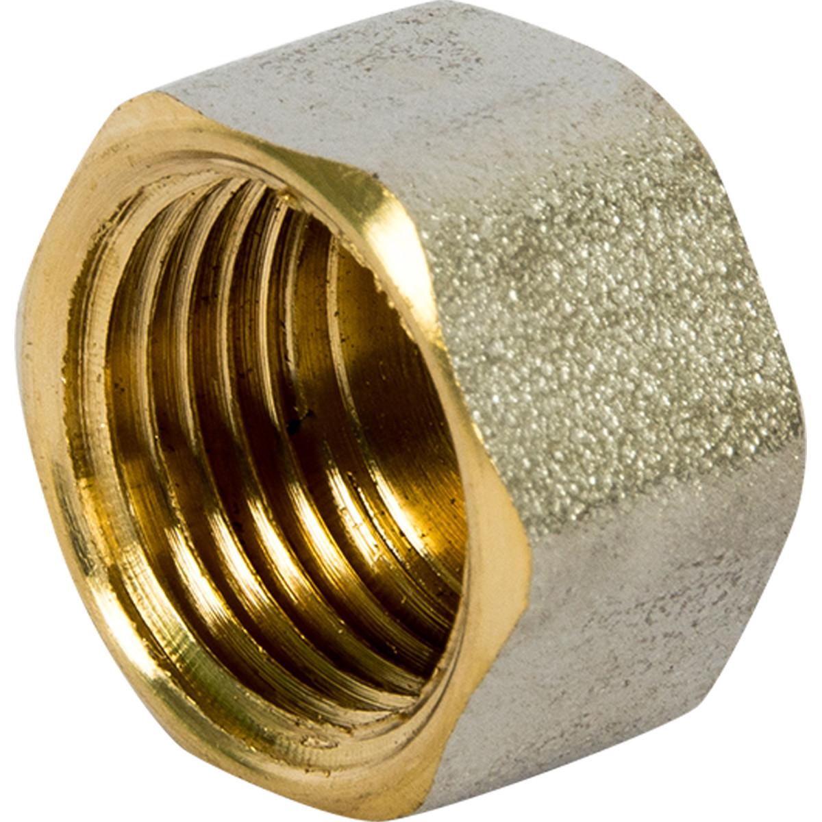 Заглушка внутренняя резьба 1/2 никелерованная латунь