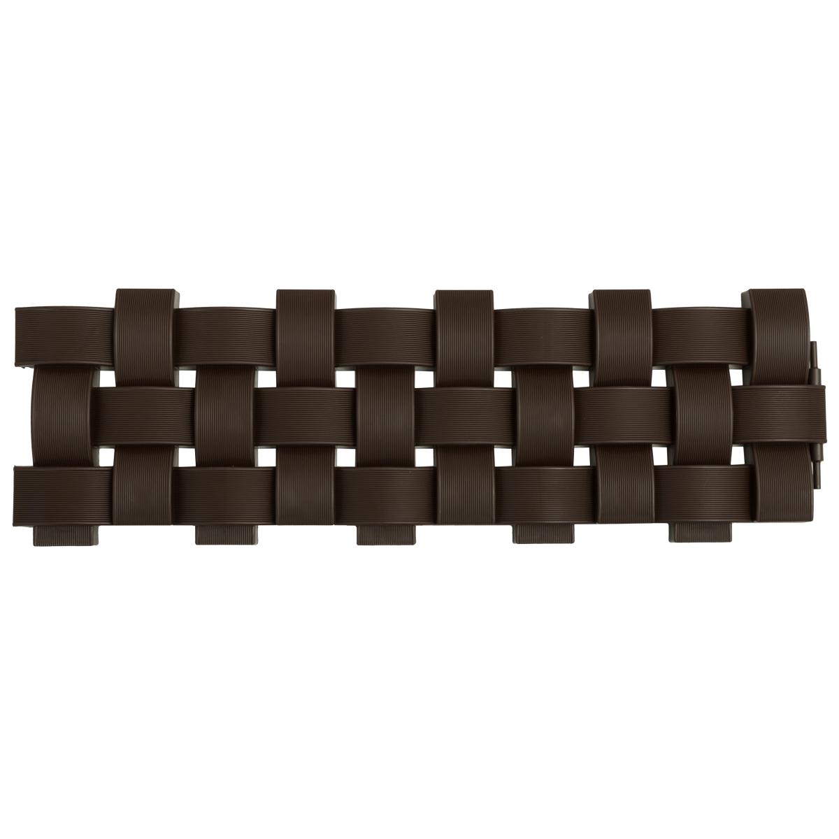 Ограждение Плетенка цвет коричневый 2.4 м