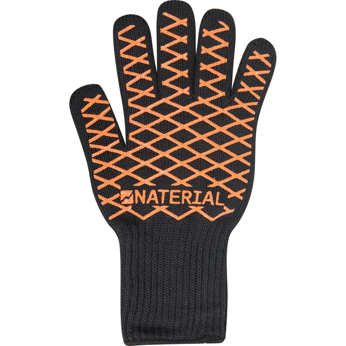 Перчатка для гриля Naterial Alpha цвет черно-оранжевый