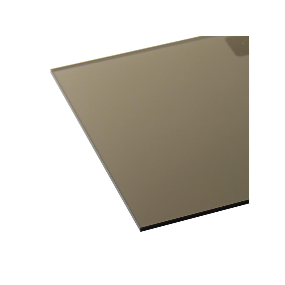 Поликарбонат монолитный 2 мм 2.05х3.05 м цвет бронза
