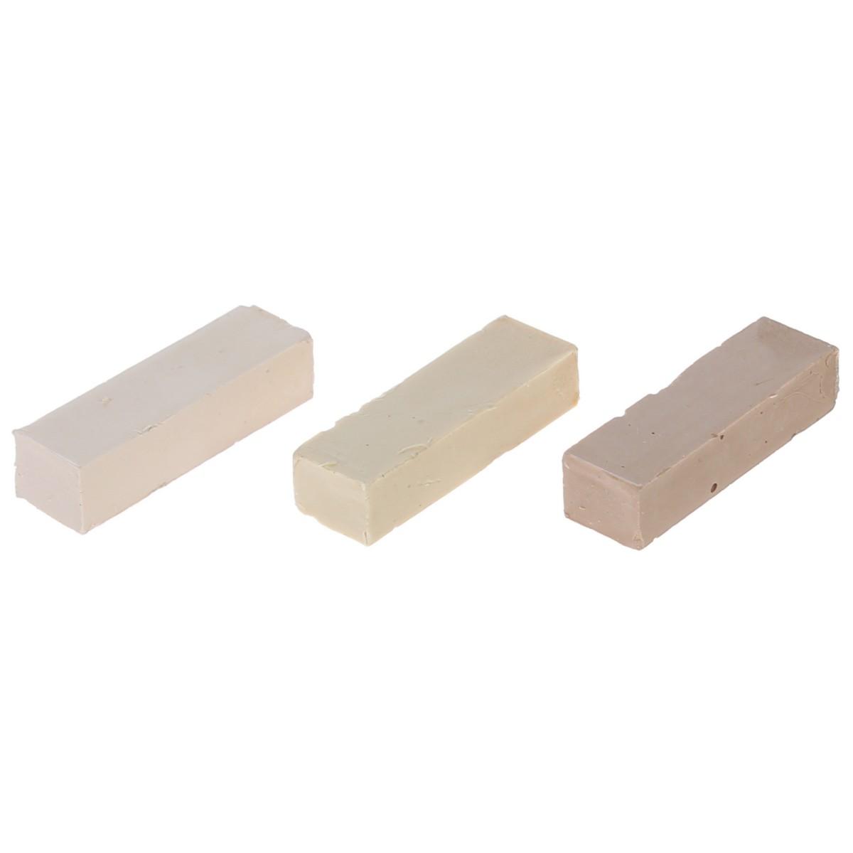 Набор мелков восковых оттенки светло-бежевые 3 шт.
