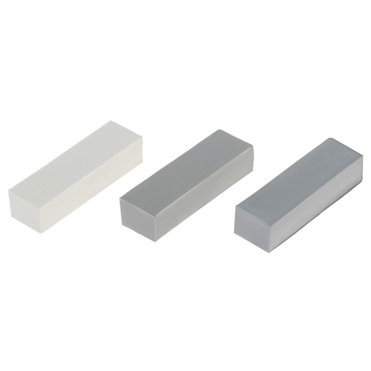 Набор мелков восковых оттенки серо-белые 3 шт.