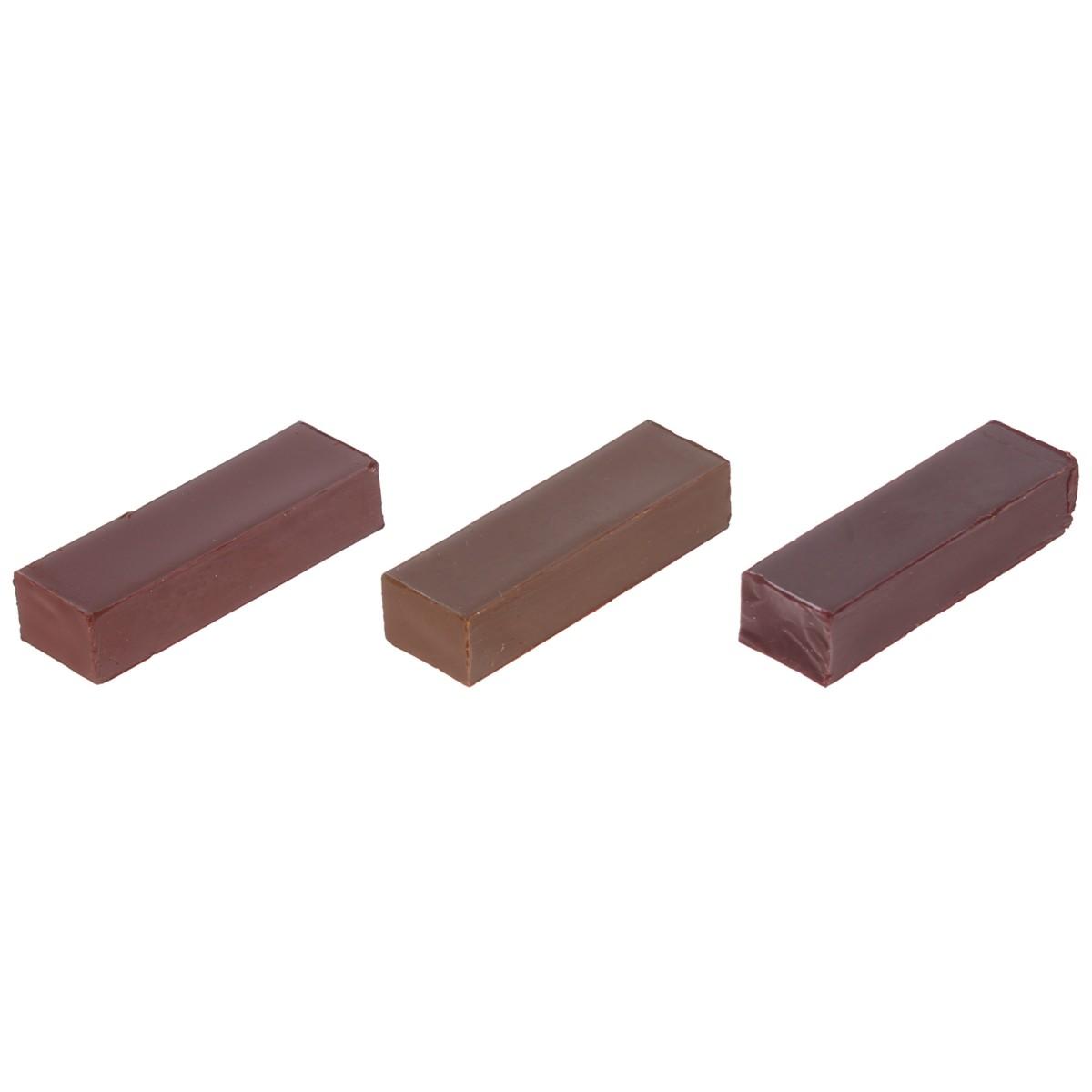 Набор мелков восковых оттенки темно-коричневые 3 шт.