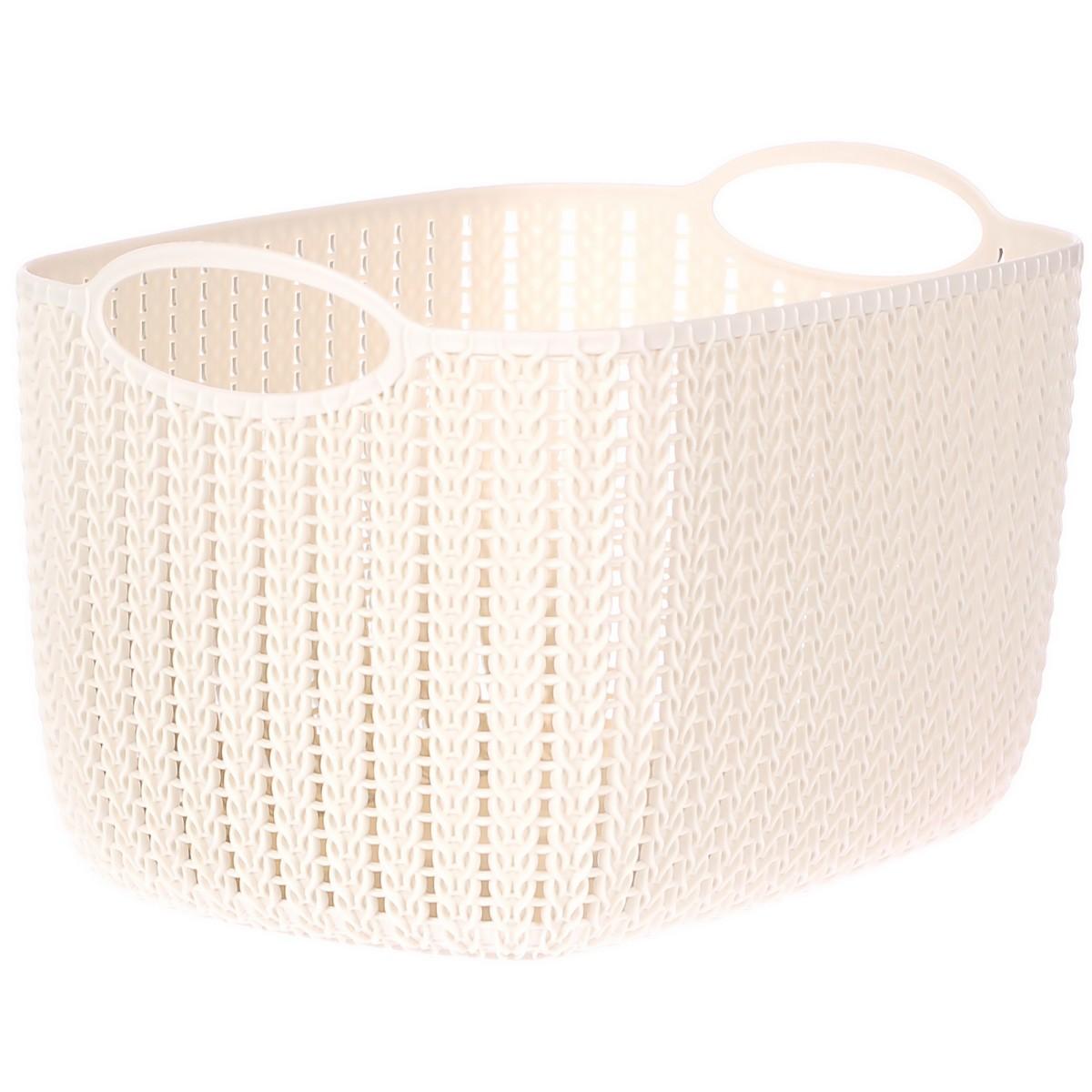 Корзина для хранения Вязание 4 л цвет белый