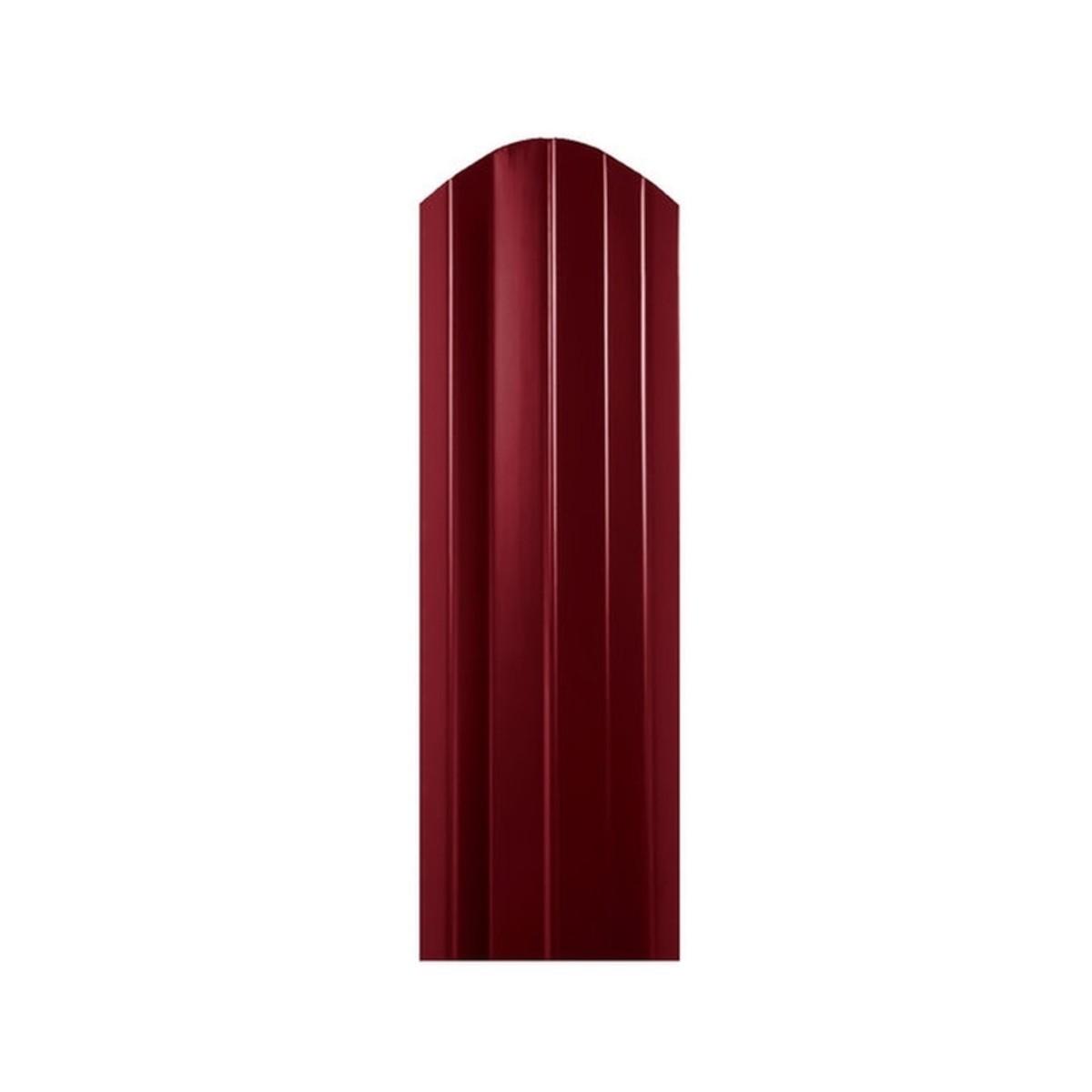 Штакетник односторонний СТ-М 100мм 1.5 м 3005 вишневый