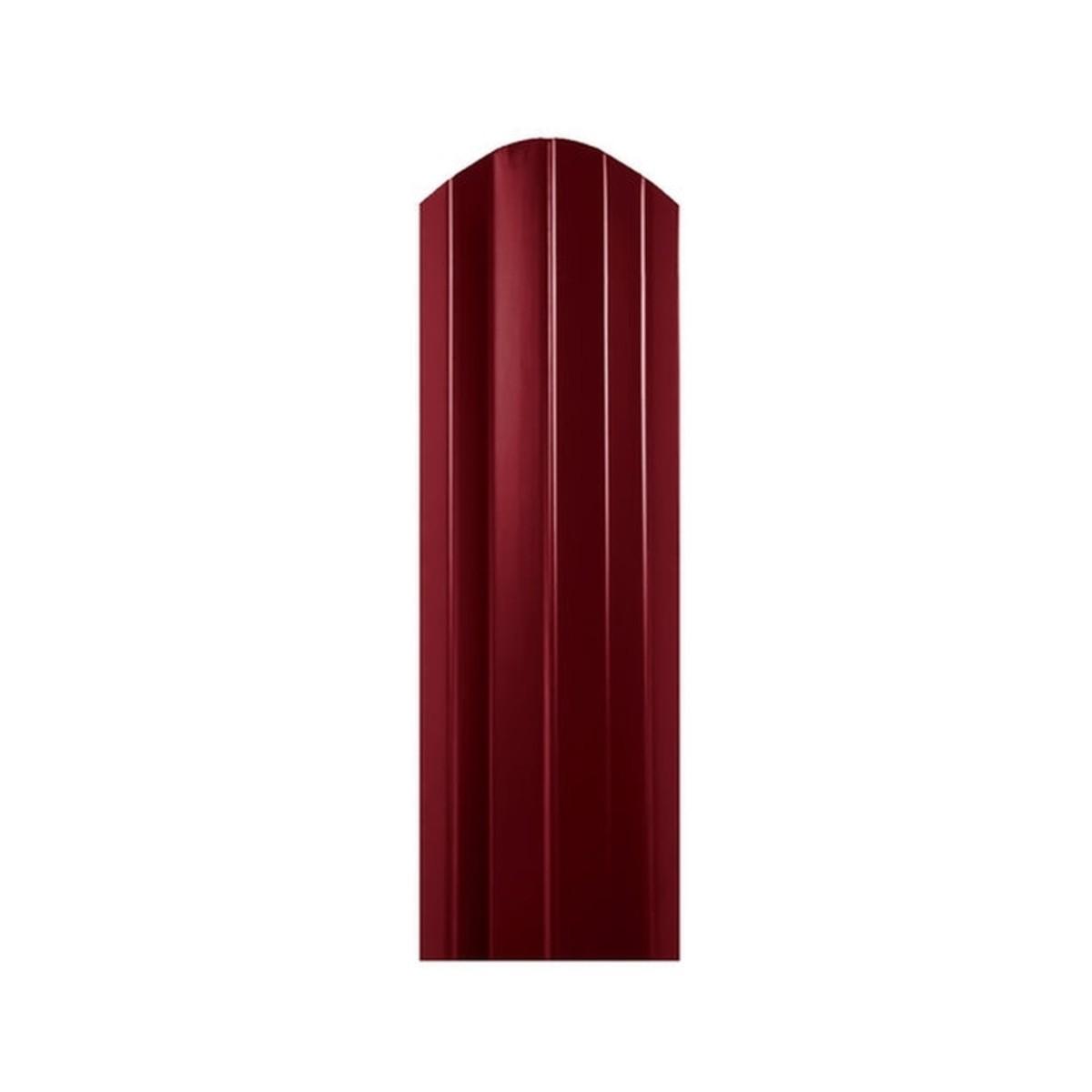 Штакетник односторонний СТ-М 100мм 1.8 м 3005 вишневый
