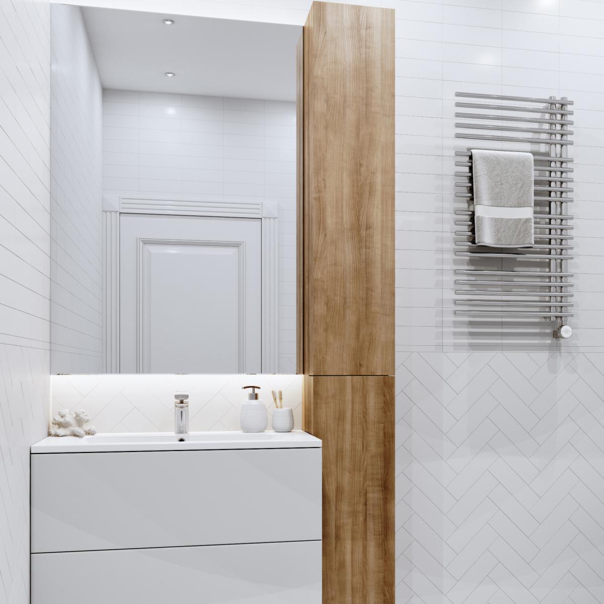 Плитка настенная Матео 7.5x25 см 0.79 м2 цвет белый