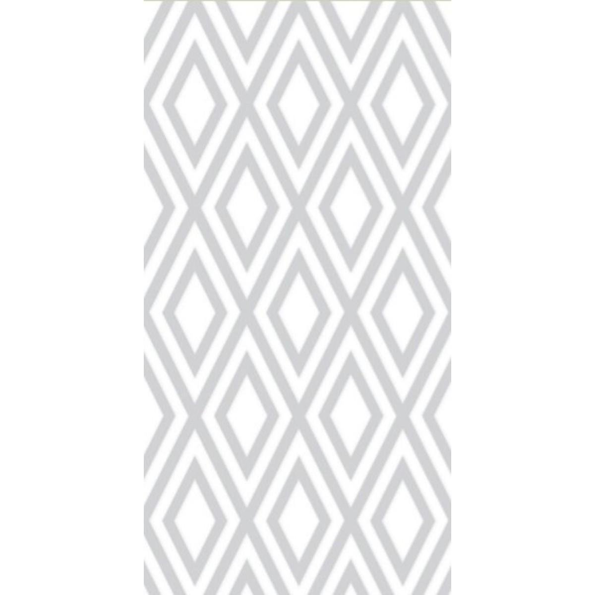 Плитка настенная Флорис Ромб 50х25 см 1м² цвет белый
