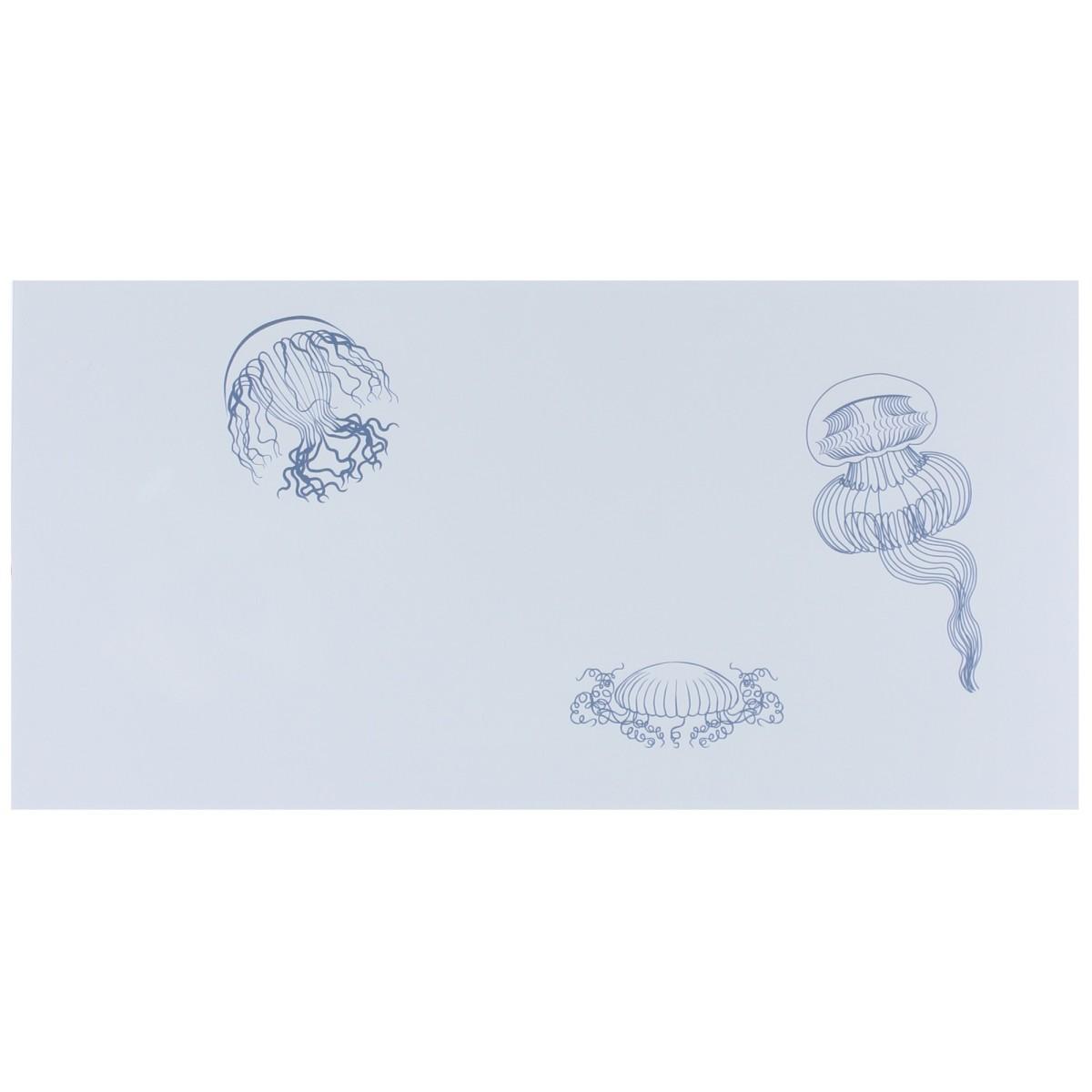 Декор «Марис Медузы» 30х60 см цвет белый