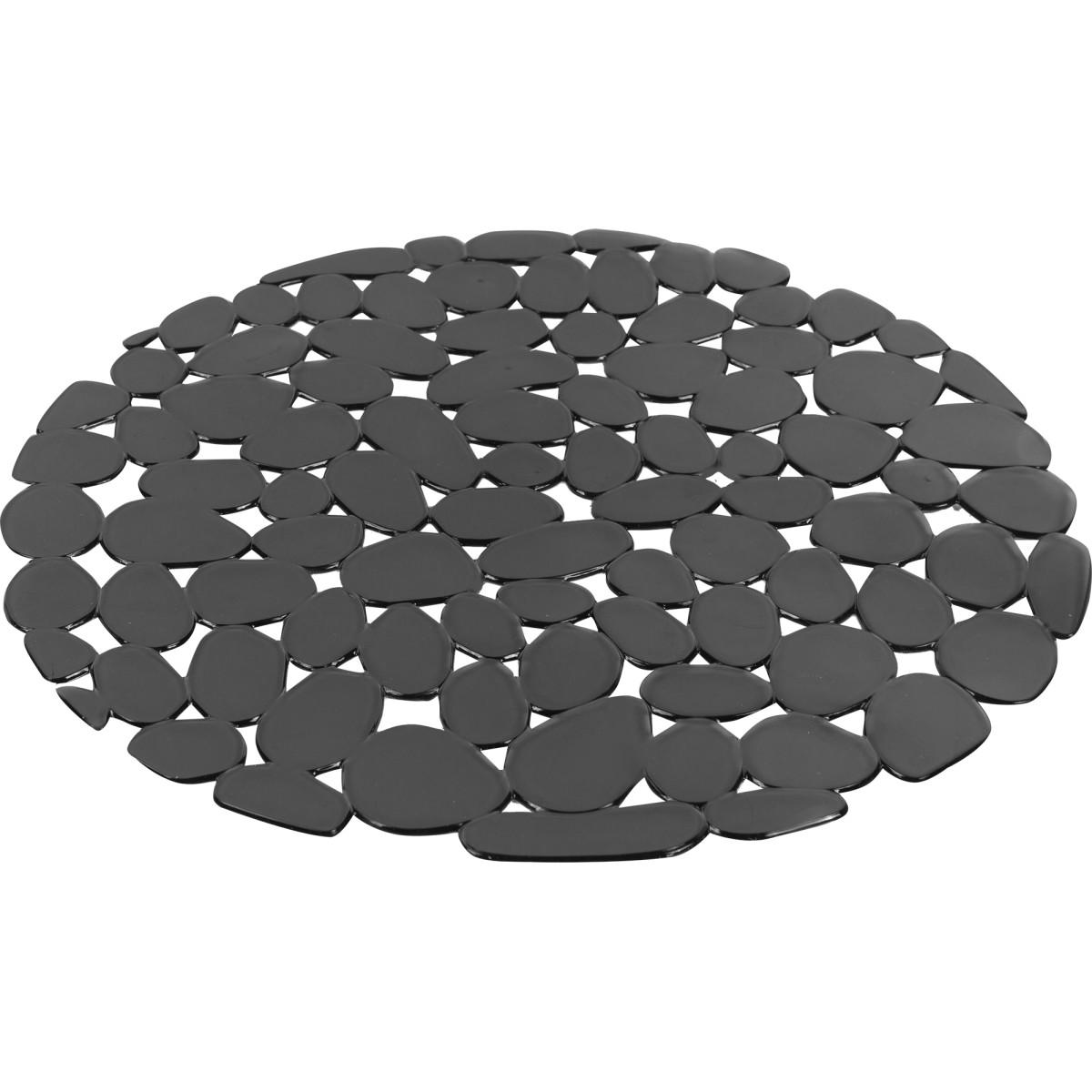 Коврик для мойки Delinia d29 см силикон цвет серый