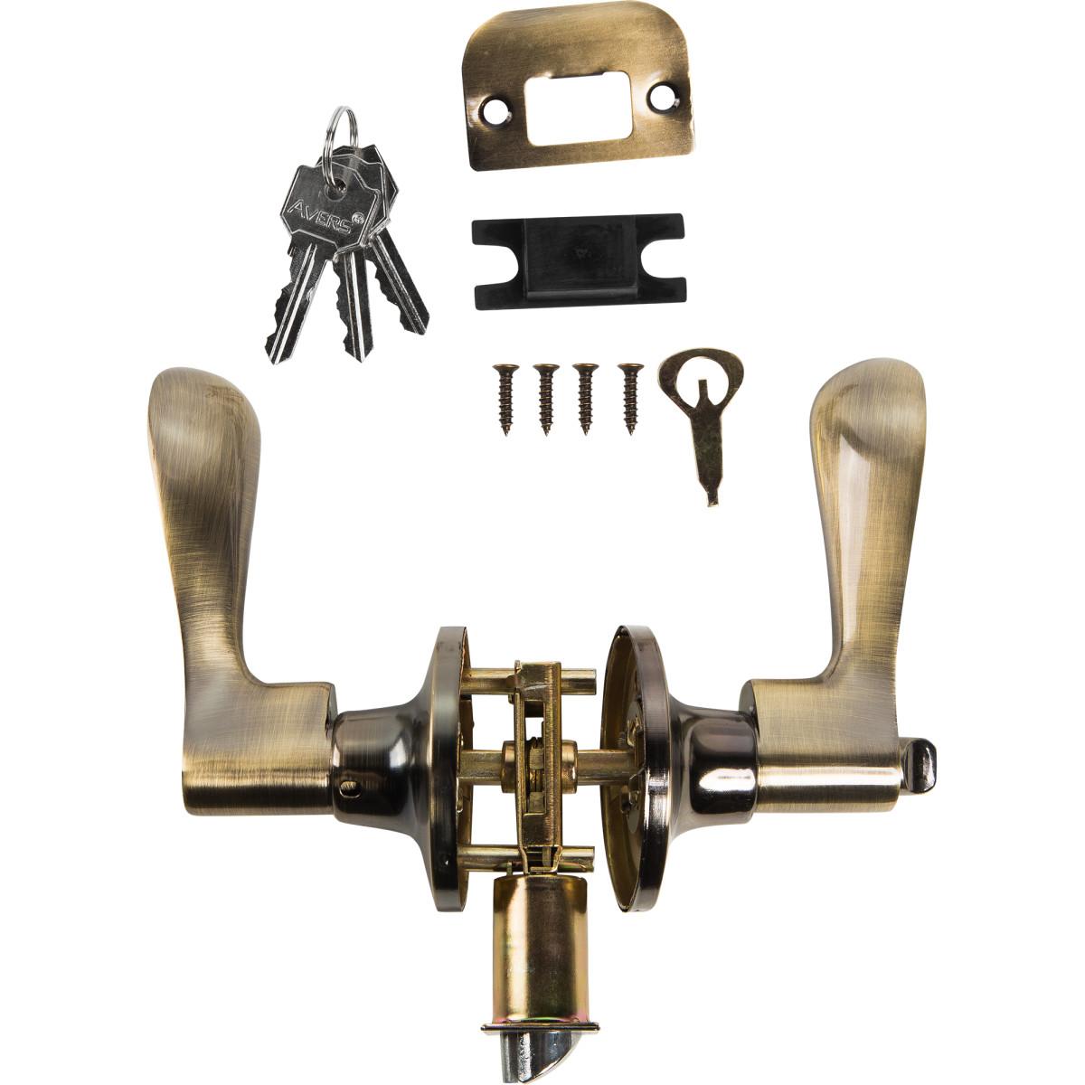 Ручка-Защёлка Avers 8091-01-Ab С Запиранием На Ключ Сталь Цвет Бронза