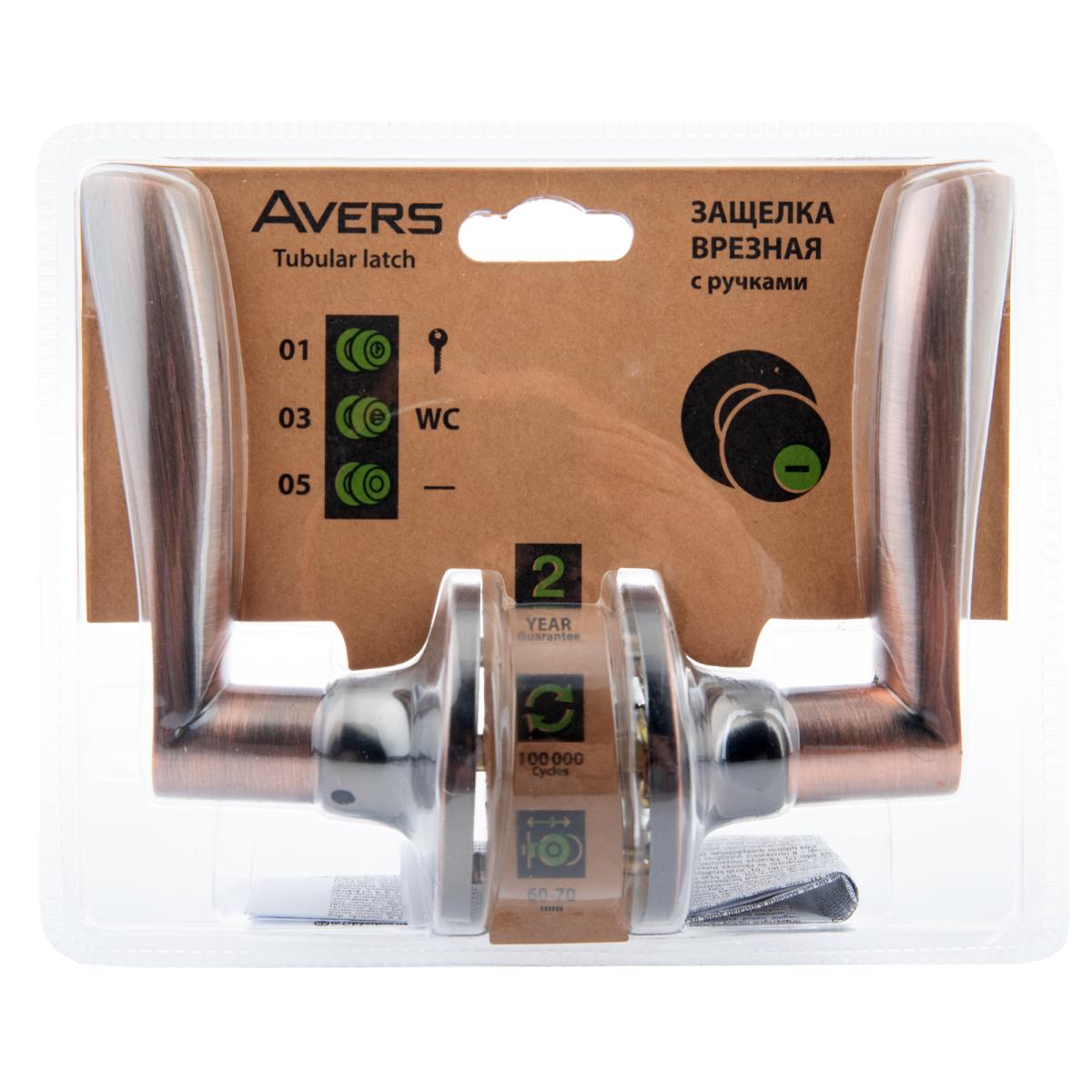 Ручка-Защёлка Avers 8023-05-Ac Без Запирания Сталь Цвет Старая Медь