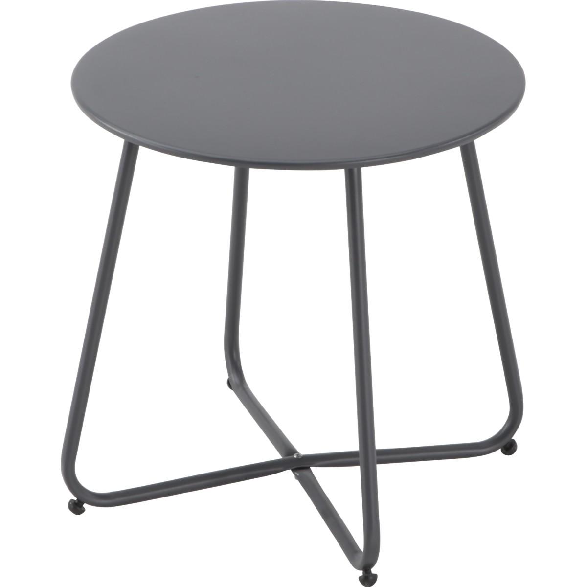 Стол садовый Acapulco диаметр 45 см металл черный