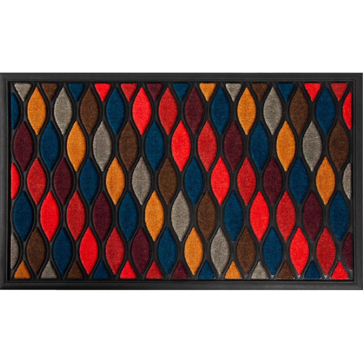 Коврик Scrap 45x75 см полипропилен/резина цвет разноцветный