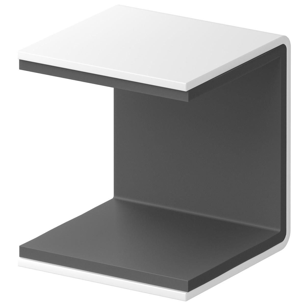 Скоба крепежная для стеллажа Spaceo KUB 35 мм металл цвет белый