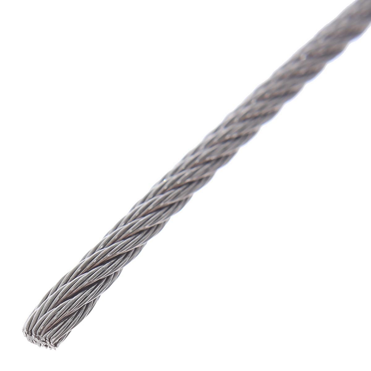 Трос нержавеющий стальной 2.0 мм 20 м