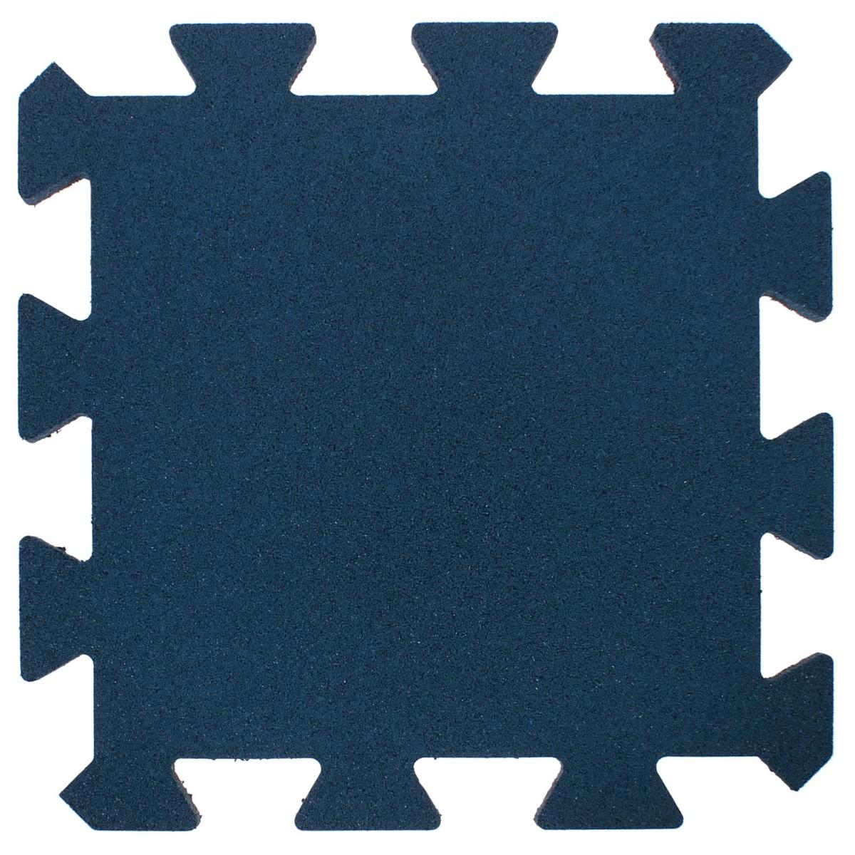 Плитка-пазл резиновая 50Х50Х2.5 см цвет синий