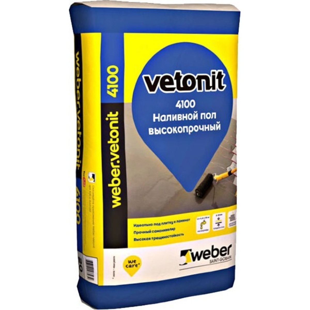 Наливной пол Weber Vetonit 4100 20 кг