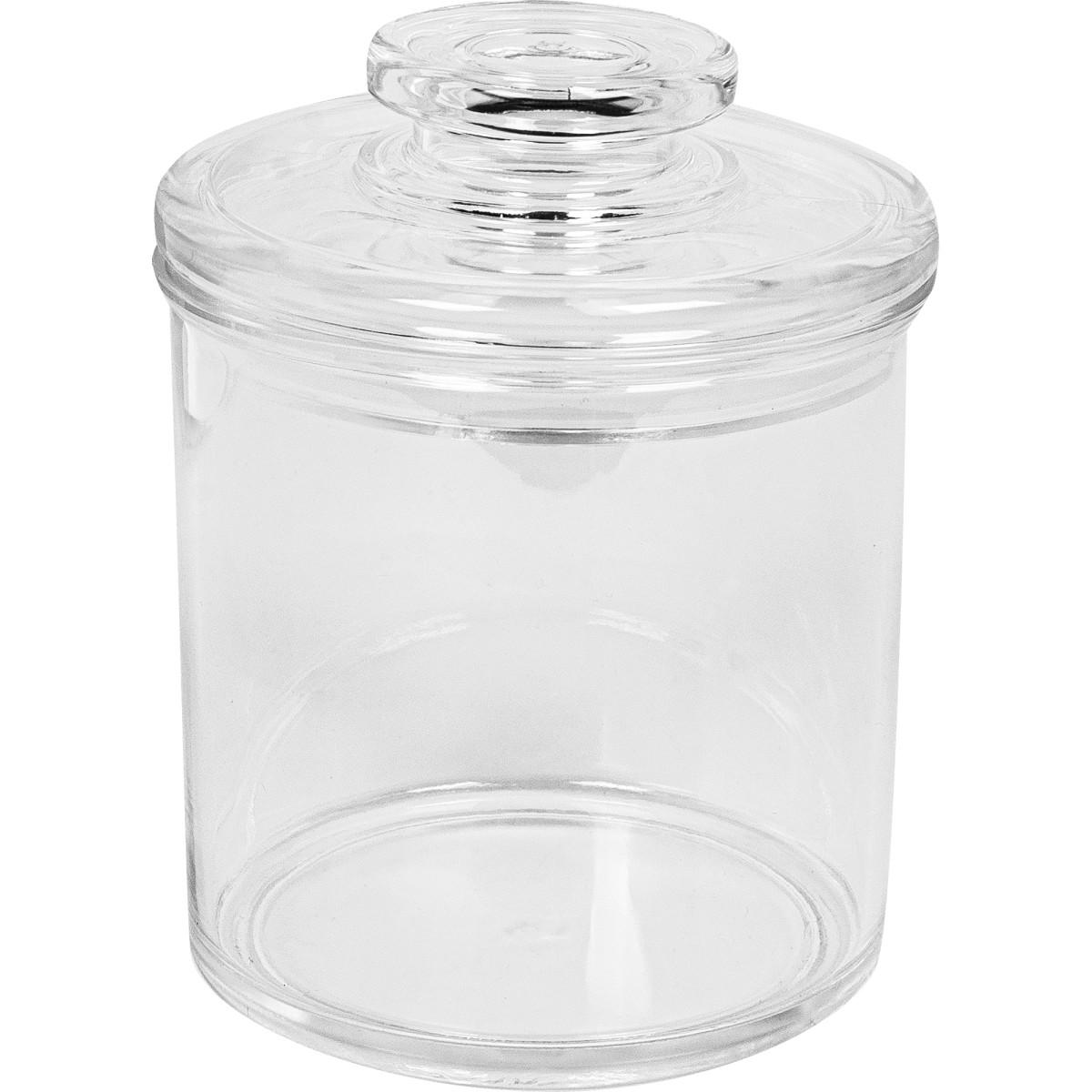 Баночка для ватных дисков «Grande» цвет прозрачный