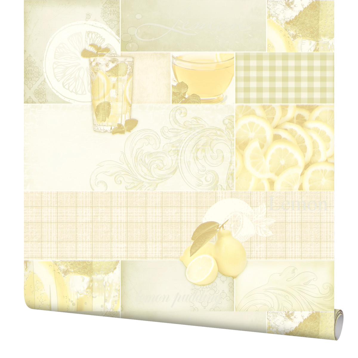 Обои виниловые Elysium Лимон желтые 0.53 м 99300
