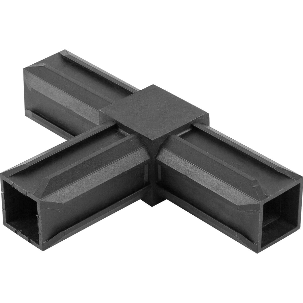 Соединитель пластиковый для трубы 30x30 мм 3-палый Т-образный