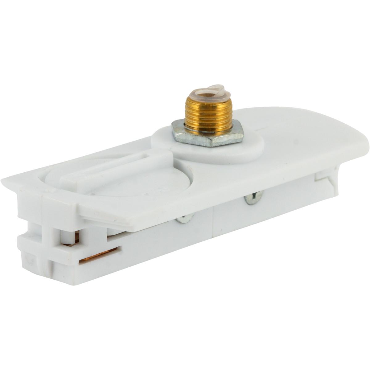 Адаптер для подключения любого прожектора или спота к трековой системе цвет белый
