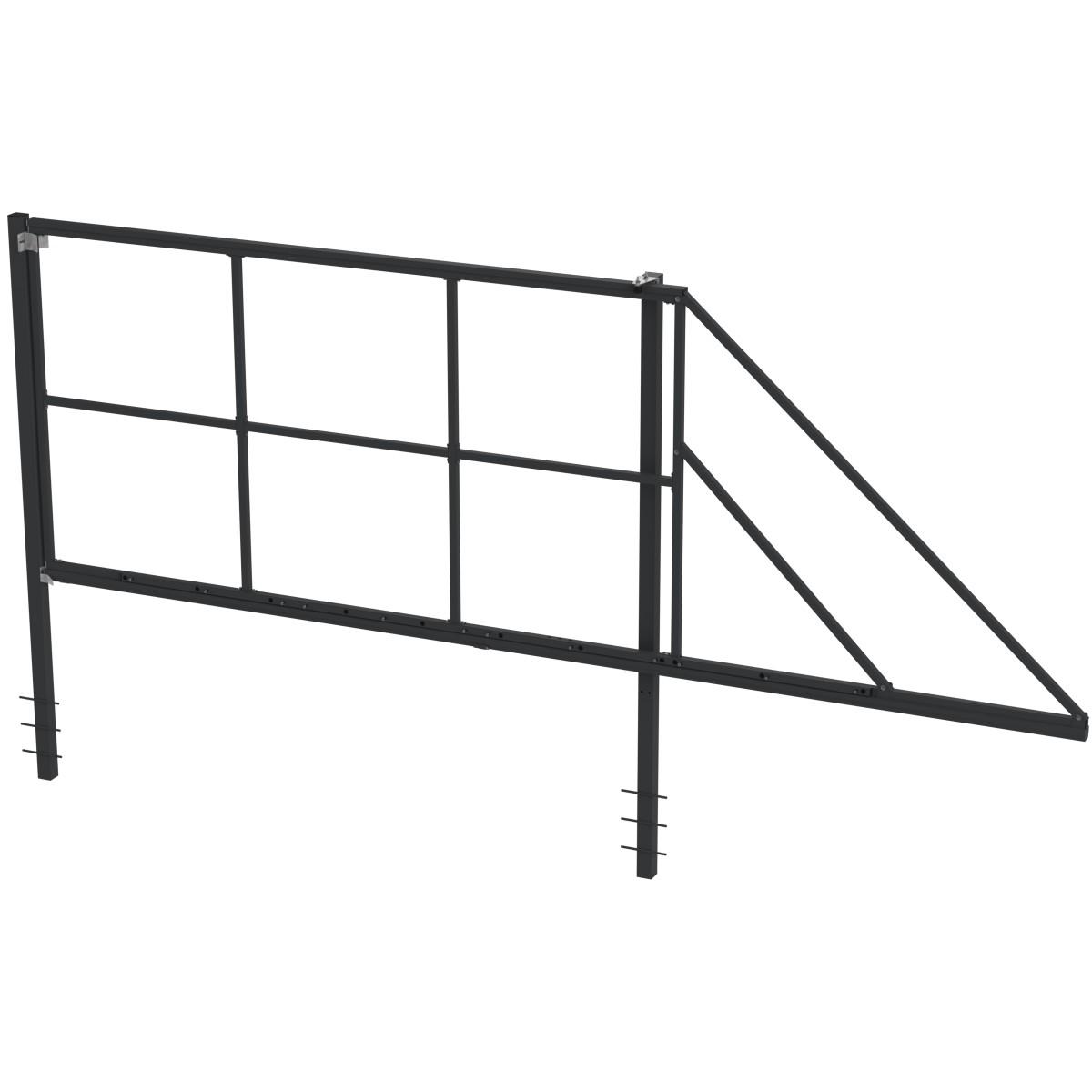 Ворота откатные Форт сборные 3.5x2.0 м