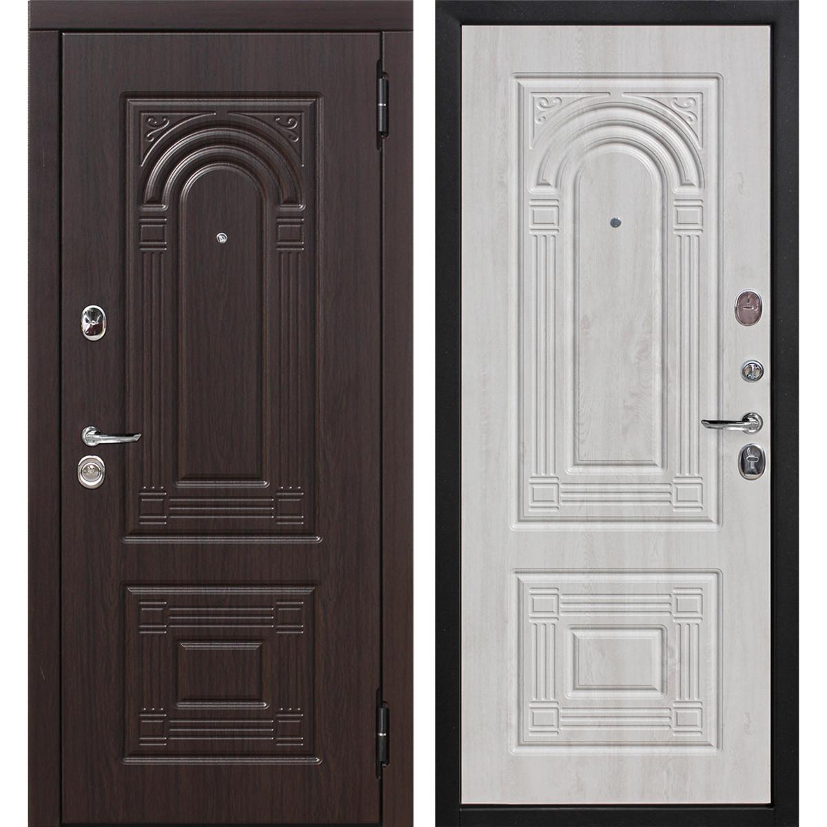 Дверь входная металлическая Флоренция 960 мм правая цвет белёный дуб