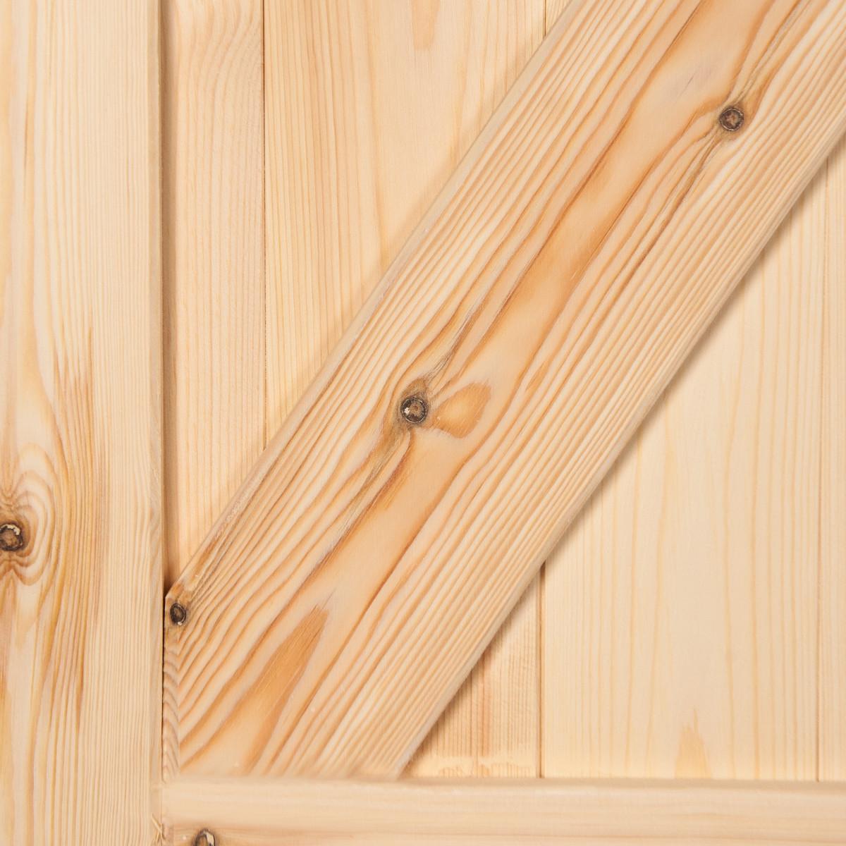 Дверь Межкомнатная Глухая Амбарная 80Х200 Массив Сосны