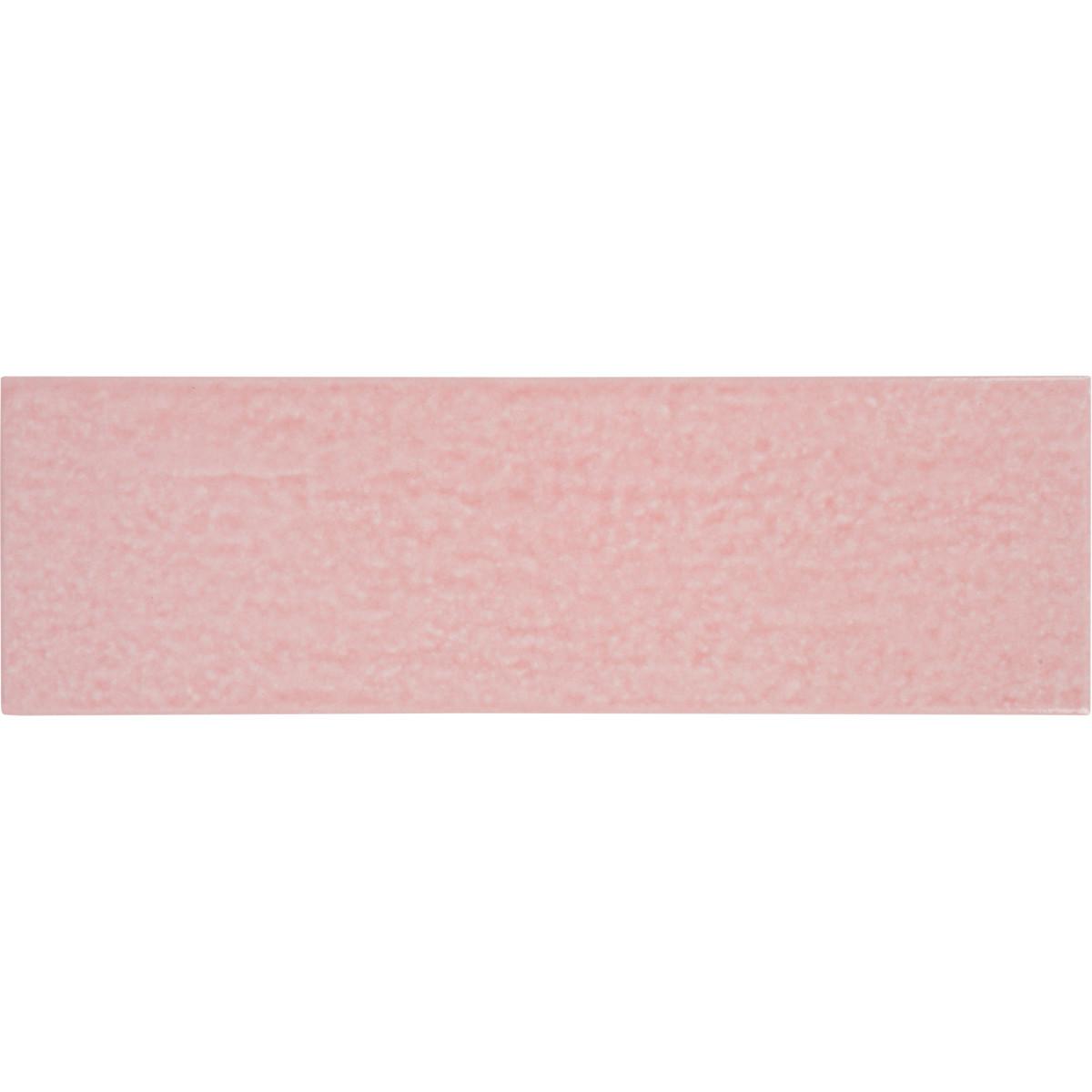 Керамогранит Teo 25x7.5 см 0.79 м2 цвет розовый глянцевый