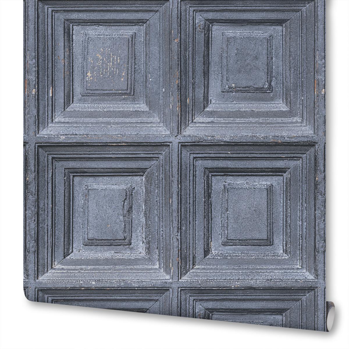 Обои Boiserie бумажные цвет серый 0.53х10 м