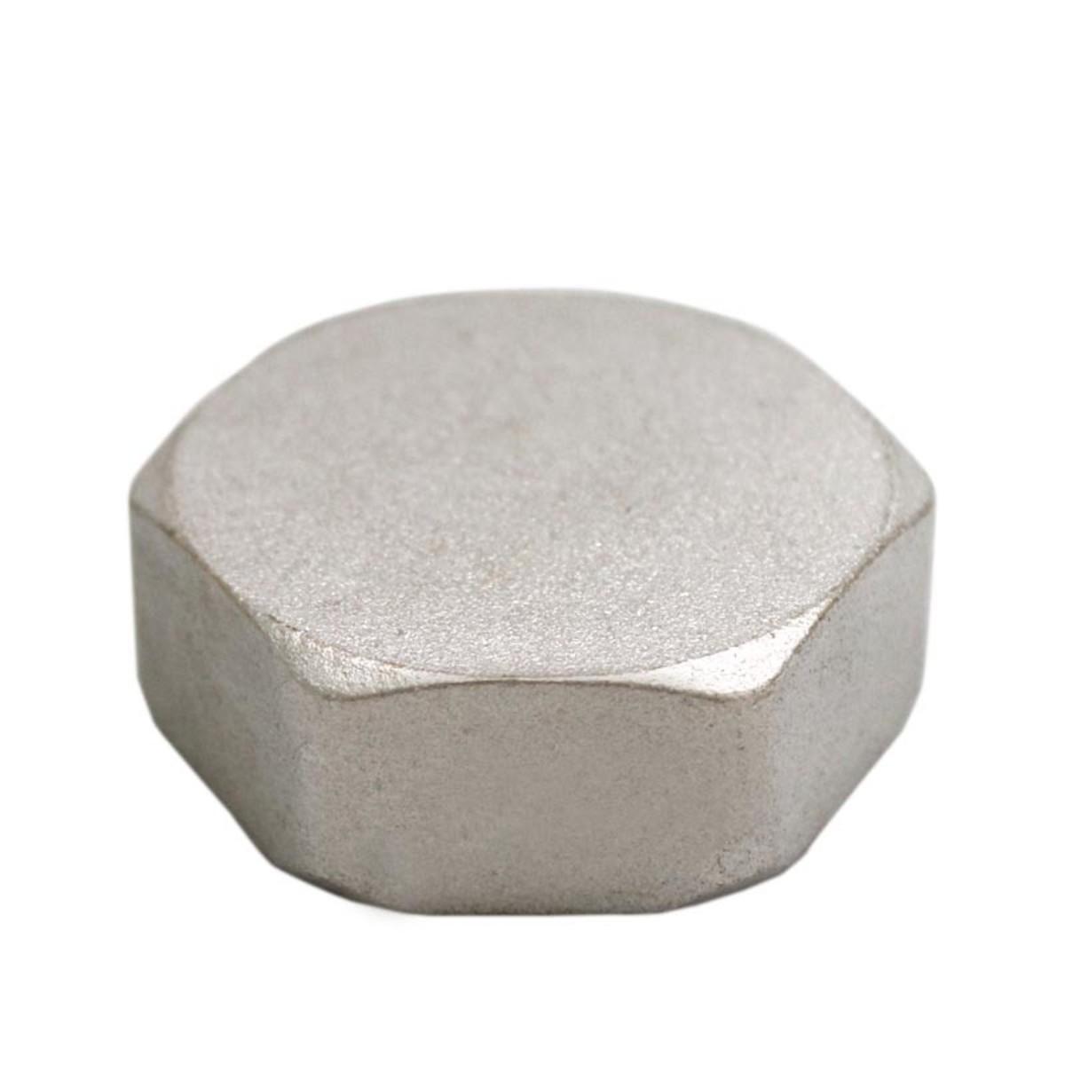 Заглушка внутренняя резьба 1 никелированная латунь