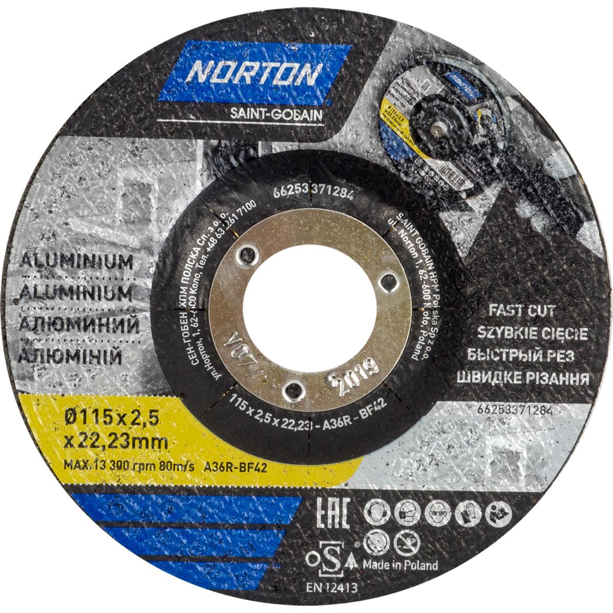 Абразивный круг Norton 115x2.5 мм