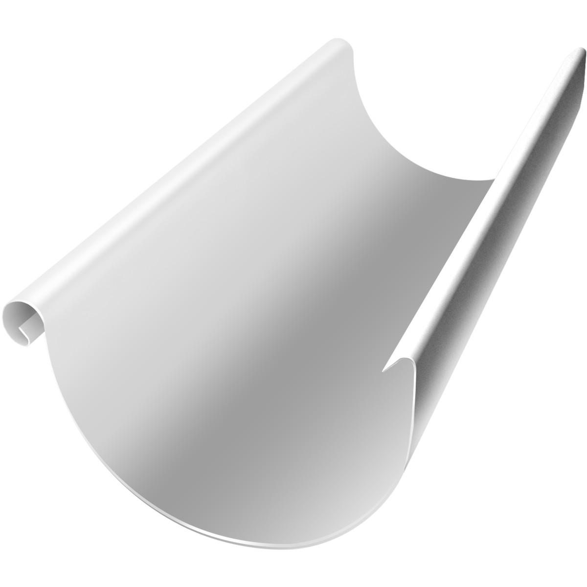 Желоб полукруглый 125 мм цвет сигнальный белый