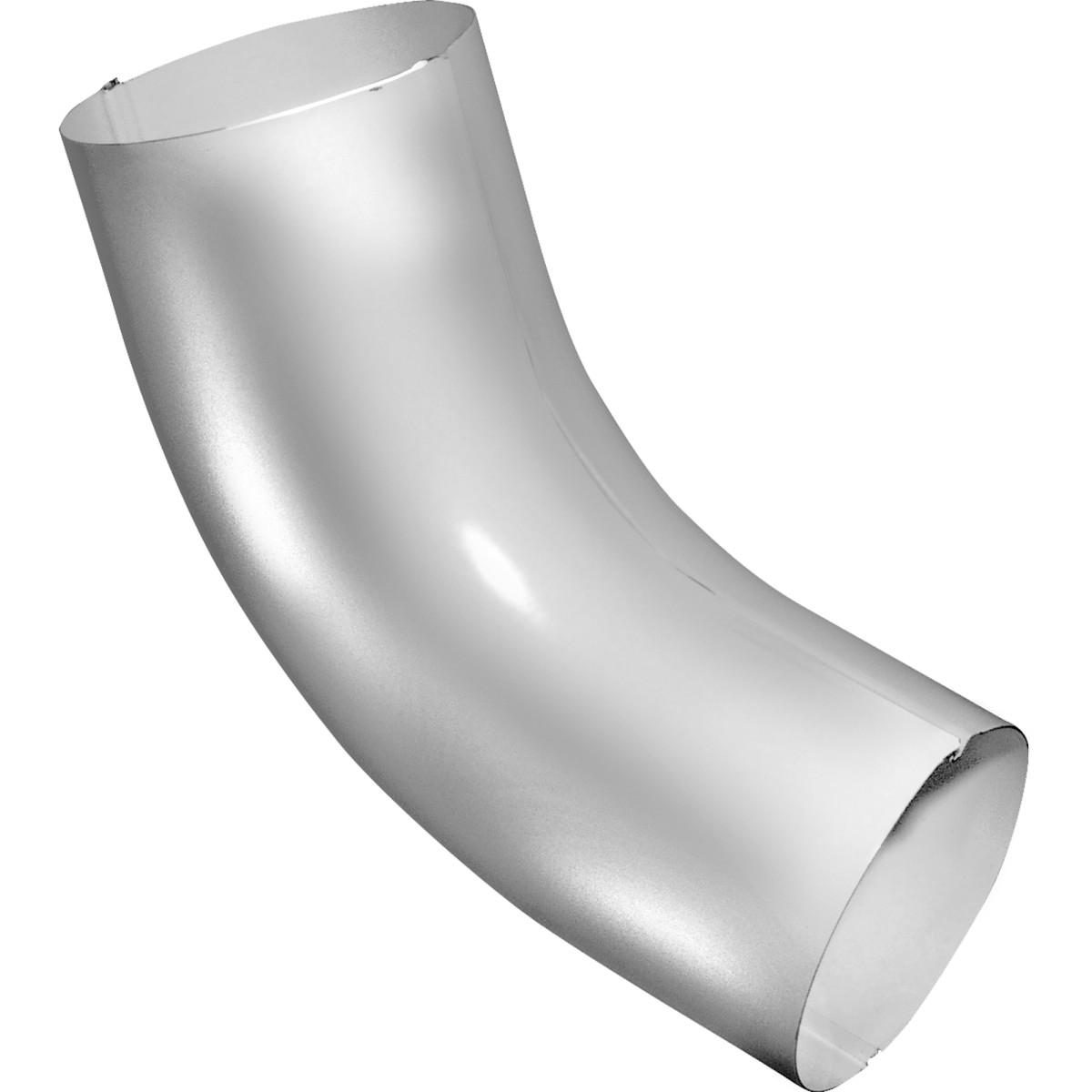 Колено трубы 60° 90 мм цвет сигнальный белый