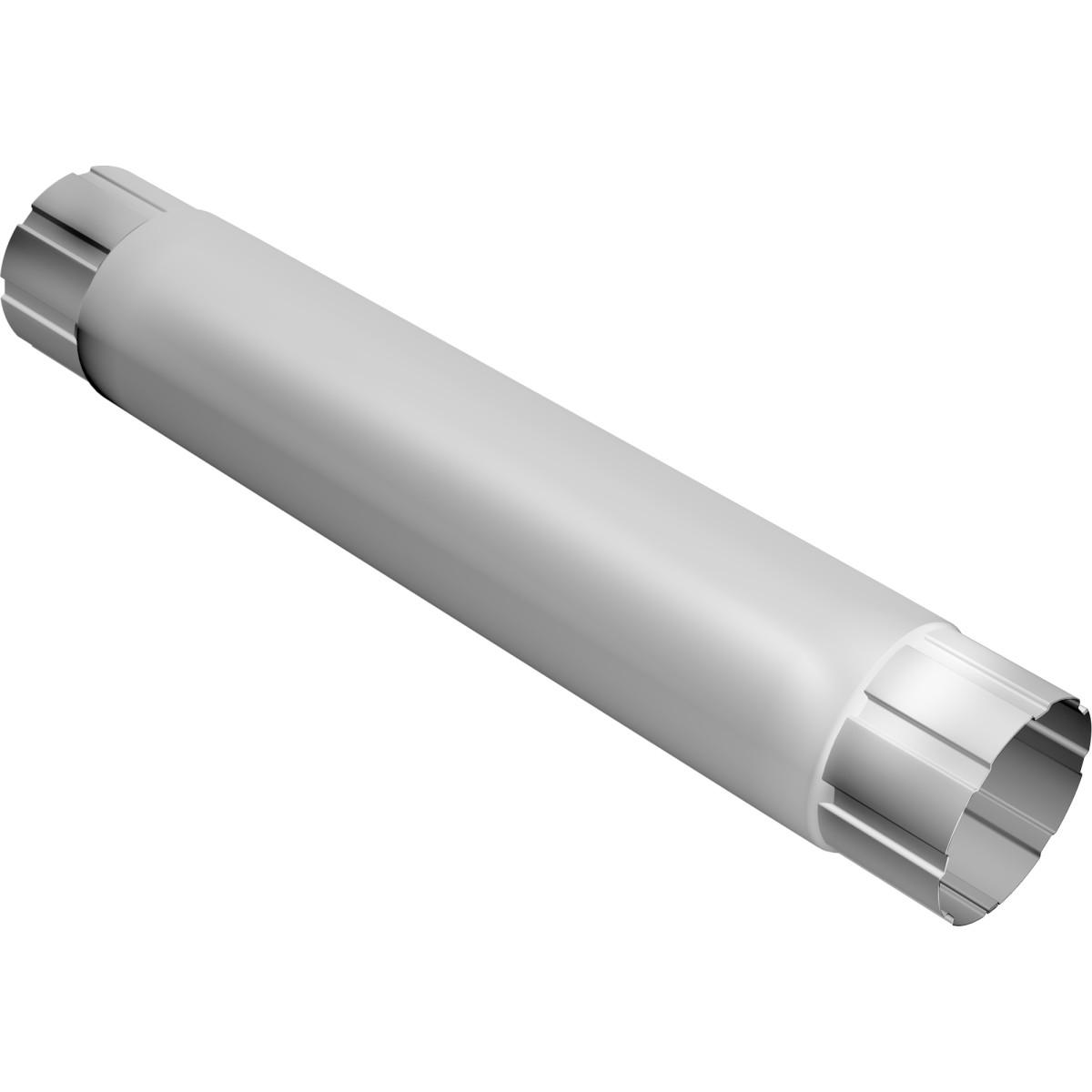 Труба круглая соединительная 90х1000 мм цвет сигнальный белый