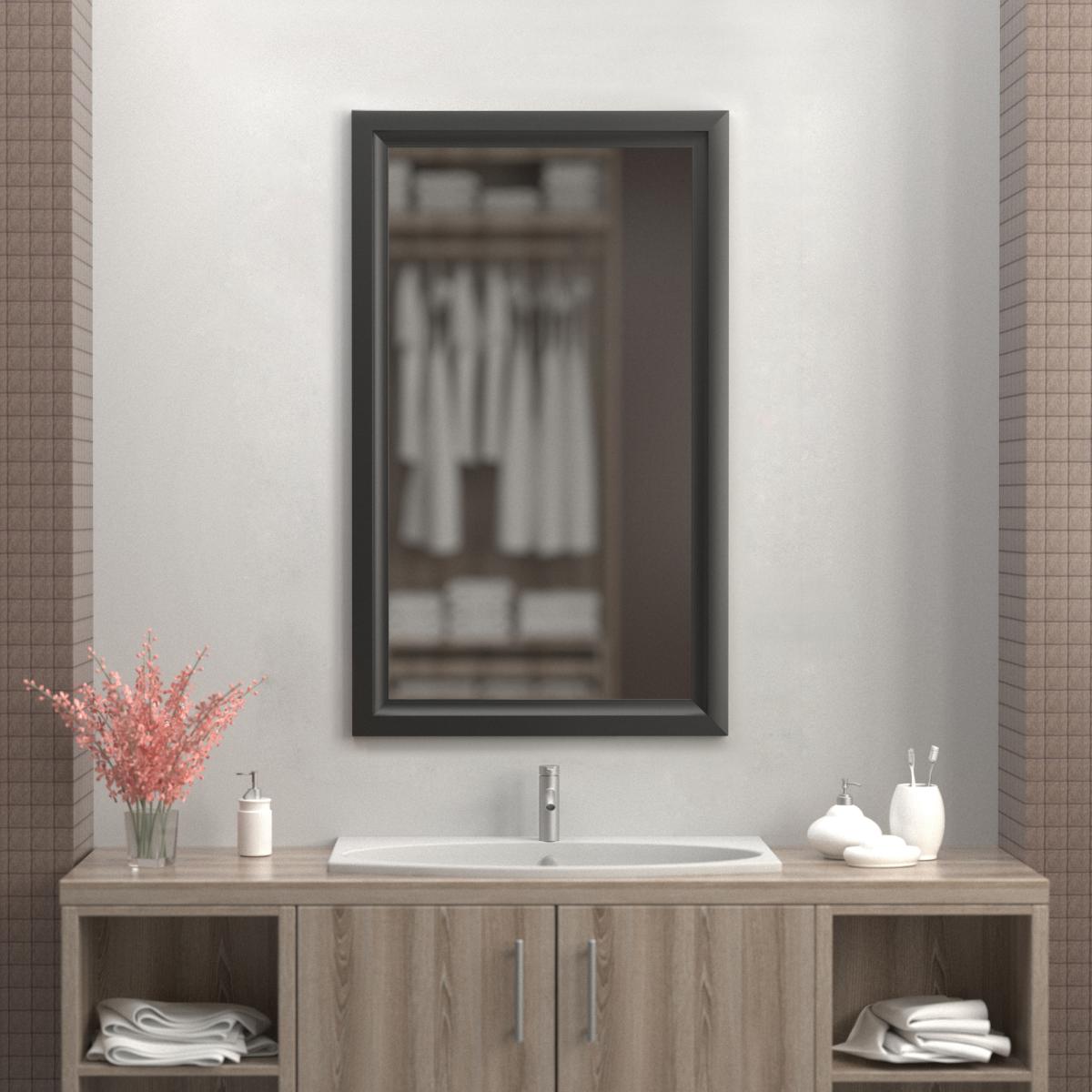 Зеркало 60х100 см цвет черный матовый